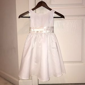 Other - Toddler (3) white dress with satin waist tie.